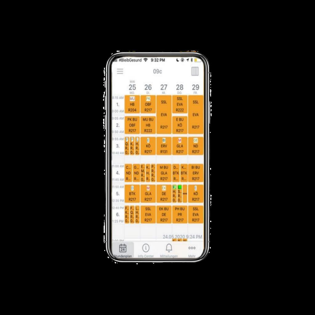 Smartphone/ Handy mit Untis App