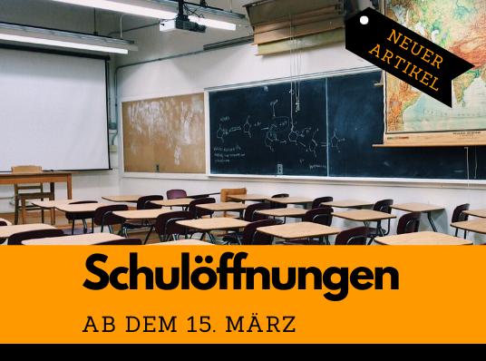 Read more about the article Update zur Schulöffnung ab dem 15. März